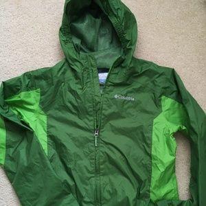Columbia hooded windbreaker jacket, L, size 14-16